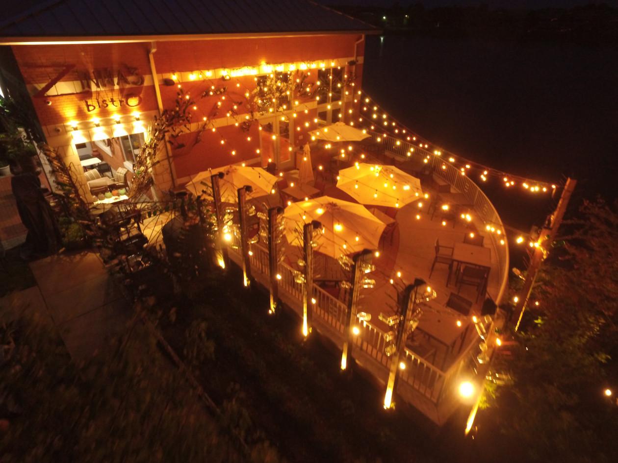 Lakeside Patio at Night