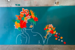 Wild Thoughts 4x8 ft'