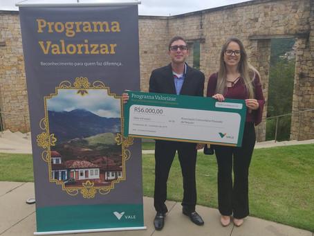 ACOPPE recebe premiação do Programa Valorizar
