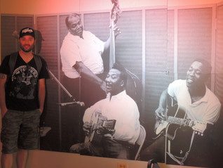 With my new friends, Millie Dixon, Muddy Waters and Buddy Guy, at Chess Records, Chicago.