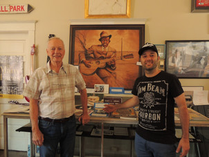 at Blues Museum, with mr.  Randall Day, Mississippi