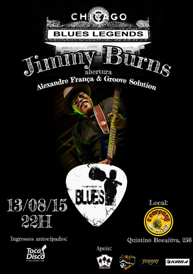 Jimmy Burns, do Mississippi para Porto Alegre