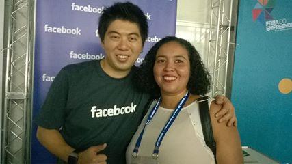 Palestra Facebook na Feira do empreendedor em São Paulo. Foto enviada por um espectador.