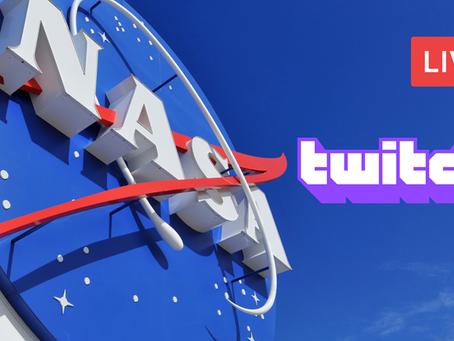Livestream da Nasa na Twitch: Um grande passo para a transmissão ao vivo