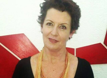 Denise Duran após a palestra, depoimento
