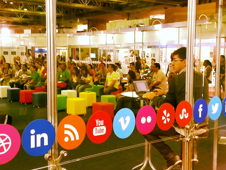A publicidade no: Facebook, Youtube, Linkedin, Twitter, soundcloud e Pinterest