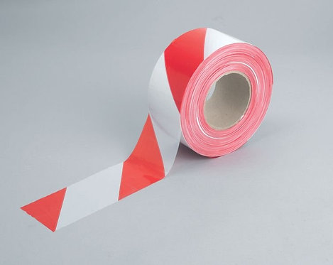 75mm x 500m Red/White Barrier Tape