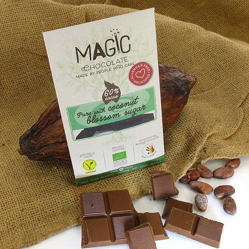 MAGIC Bio Hocus Pocus chocolade met kokosbloesemsuiker 60% cacao 44 g