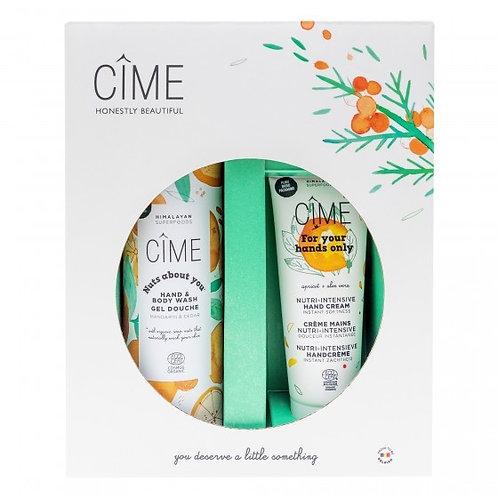 """Cîme """"Kerstbox 2020"""" Hand & Body Wash en Handcrème"""