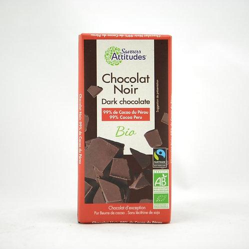 SA Bio Fondant chocoladetablet (99% cacao) 80 g