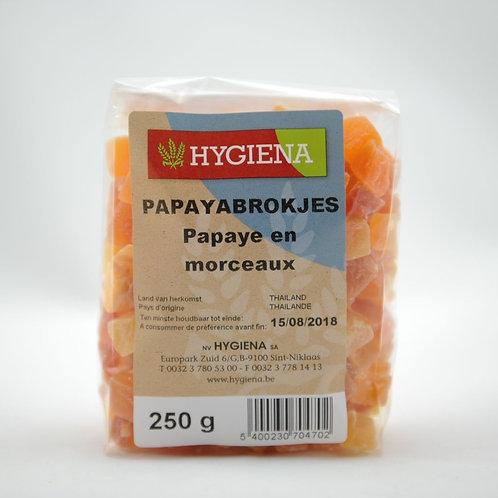 HYG Papayablokjes 250 g