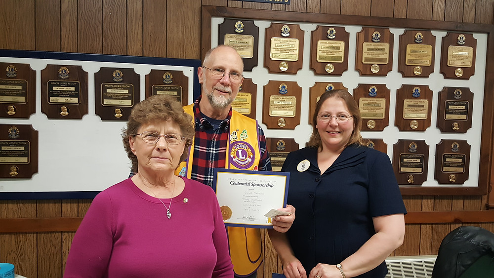 New Member Judy Maldovan with Gerry Maldovan and District Governor Michelle Crocker