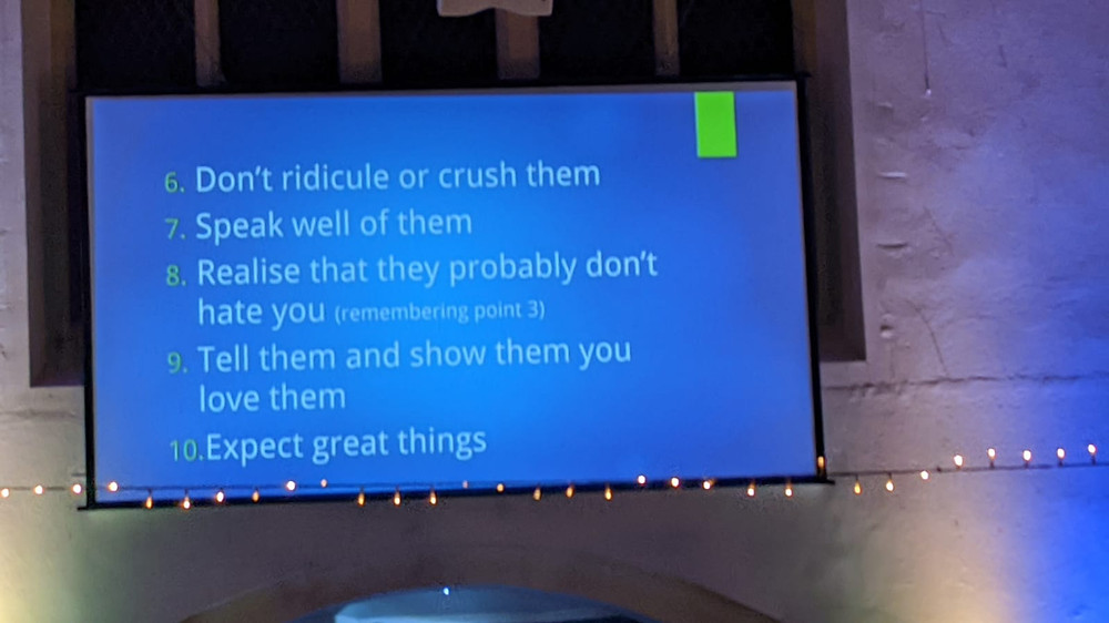 10 top tips to bless young people (6-10)