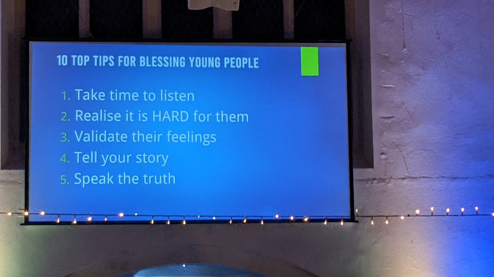 10 top tips to bless young people (1-5)