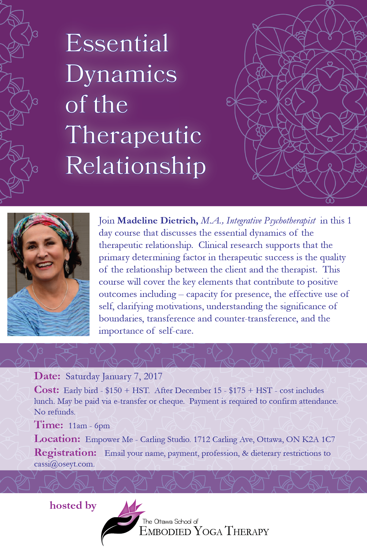 MD Therapeutic Relationship Jan 2017-01