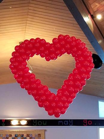 4-foot tall heart