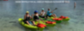 Kayak rentals at Paddles Outdoor Rentals