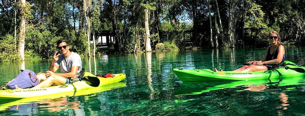 German Tourist on Guided Kayak Tour in Crystal River, Florida