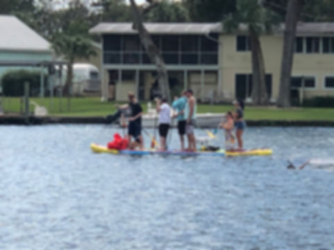 Family reunion on our party paddle board