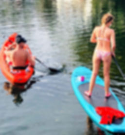 French Tourists in Crystal River, Florida