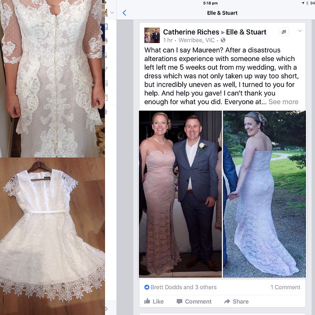 How Much Will It Cost To Shorten A Simple Wedding Dress Bridal