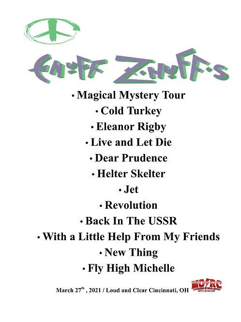 Enuff Z'Nuff - Signed Set List