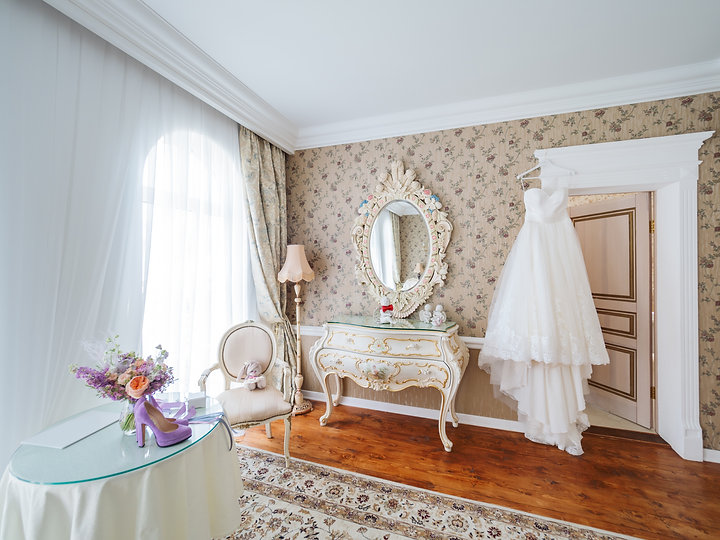 Canva - Bridal White Dress in Room with