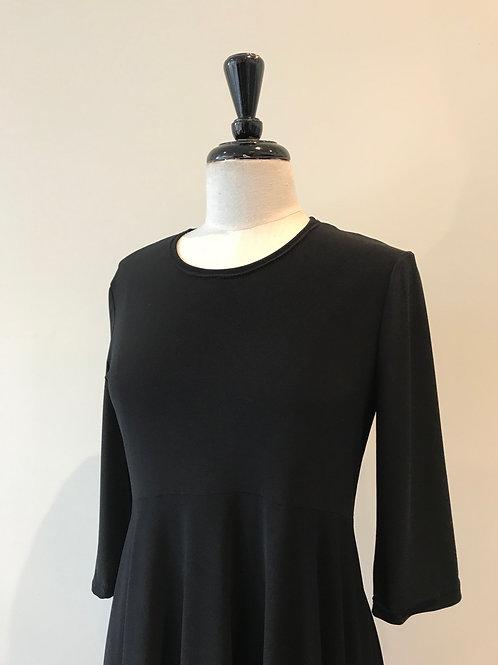 Black jersey swing dress