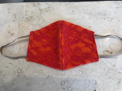 Orange lace mask