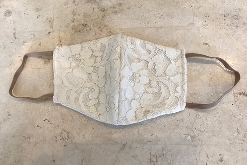 Ivory lace mask