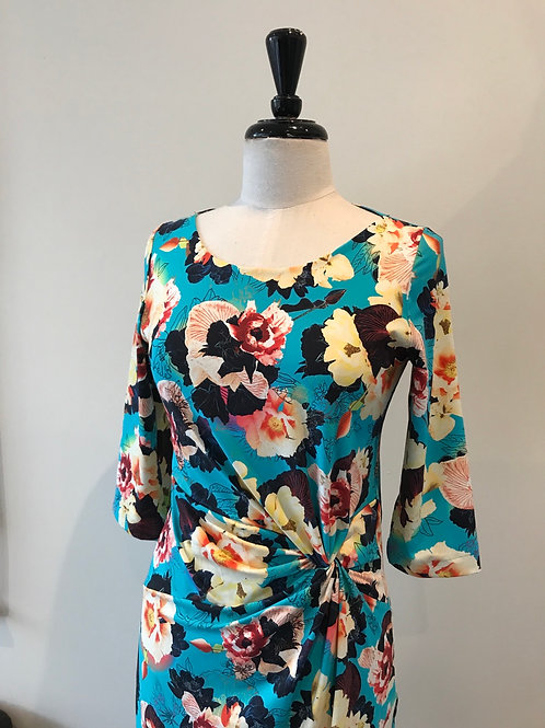 Printed floral knot dress