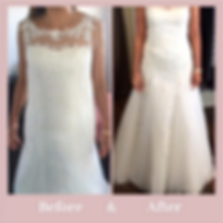before and after wedding dress alteratio