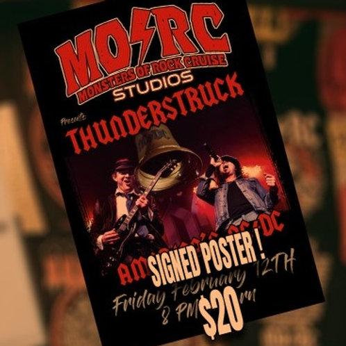 Thunderstruck - Signed Poster