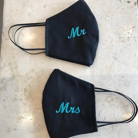 Mr & Mrs masks