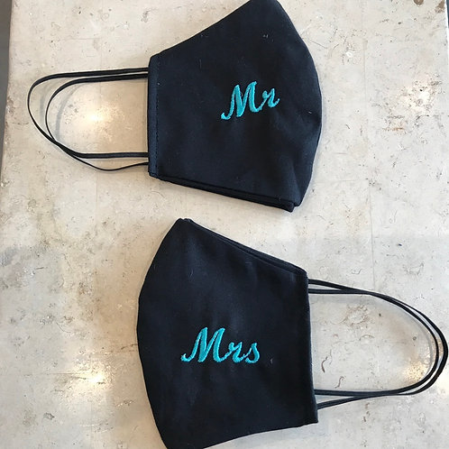 Mr & Mrs masks set of 2