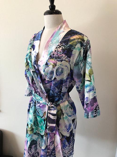 Abstract print robe