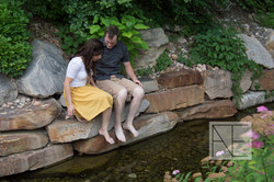 engagement photography river stream