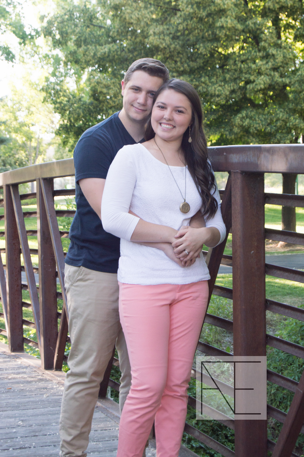 engagement photography bridge