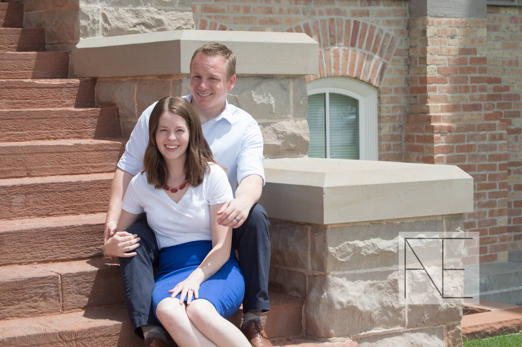 engagement photography stairs