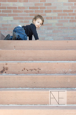 child photography stairs