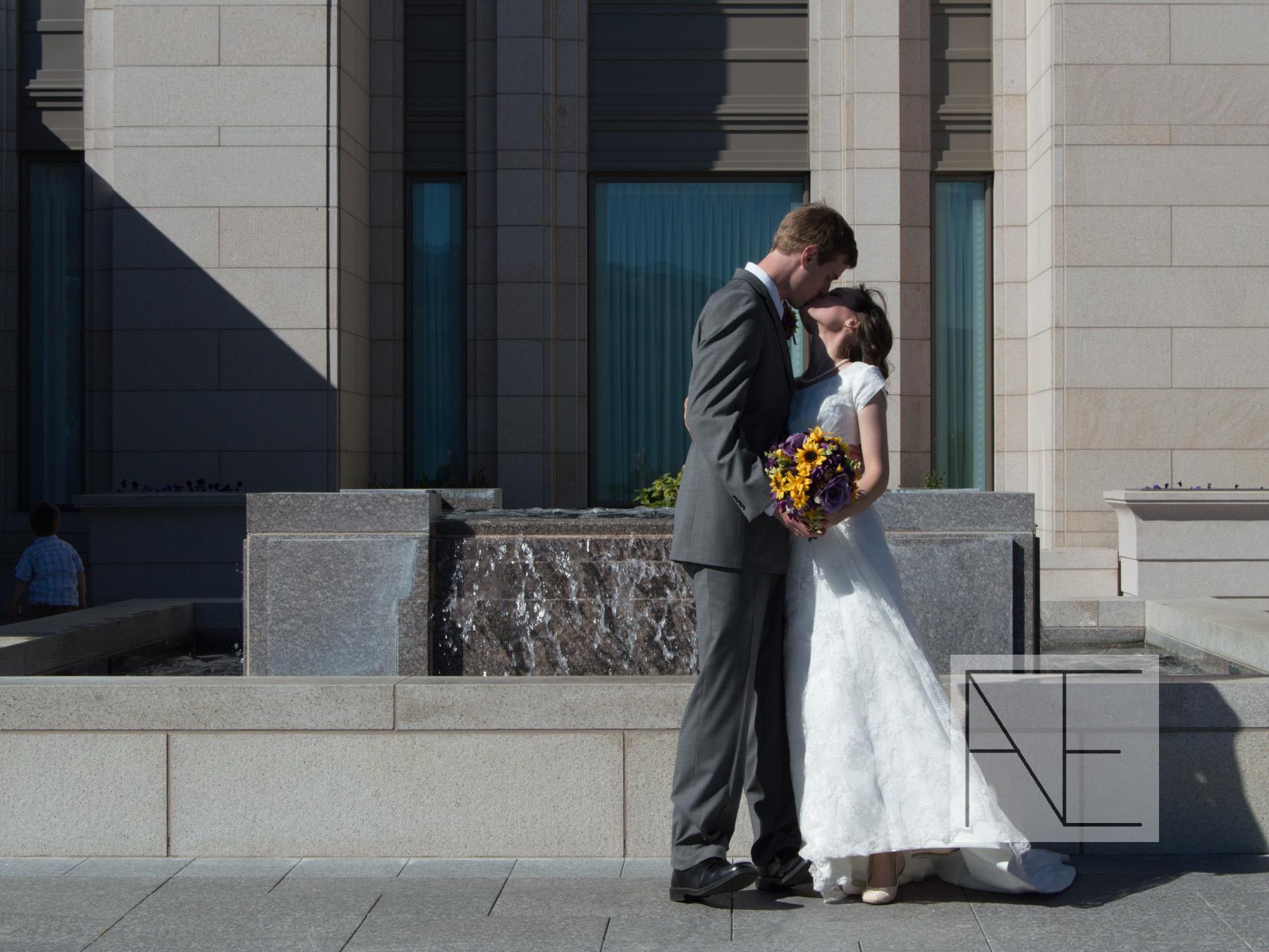 utah temple wedding photography