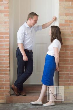 engagement photography door