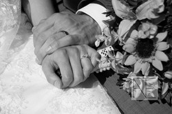 wedding bouquet photography rings