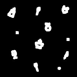 Diner Icons Black