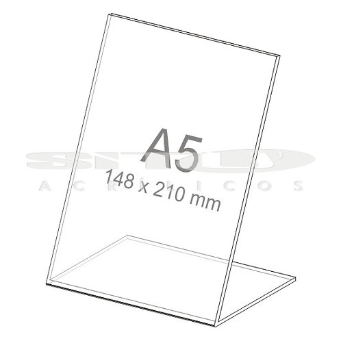 Display L - Vertical - Tam.: A5 (148x 210 mm) - Sem fundo