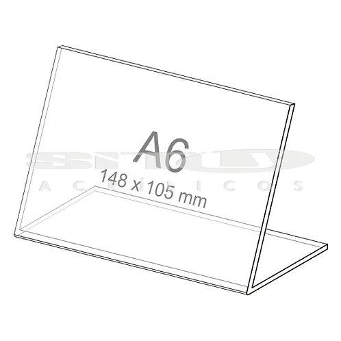 Display L - Horizontal - Tam.: A6 (105 x 148 mm) - Sem fundo