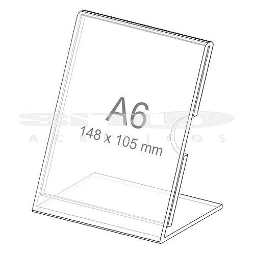 Display L - Vertical - Tam.: A6 (148 x 105 mm) - Com fundo