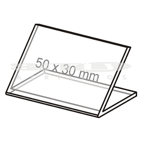 Display L - Tam.: 50 x 30 mm - Sem fundo