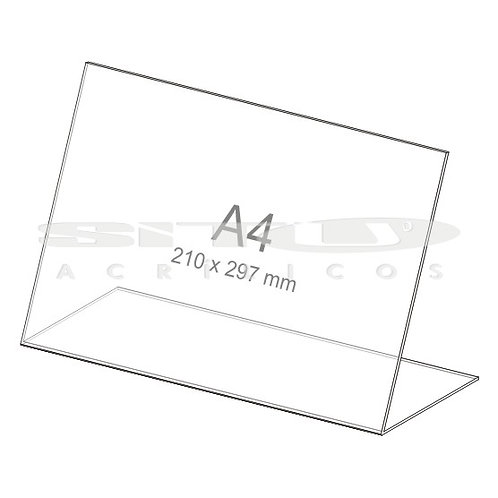 Display L - Horizontal - Tam.: A4 (210x 297 mm) - Sem fundo