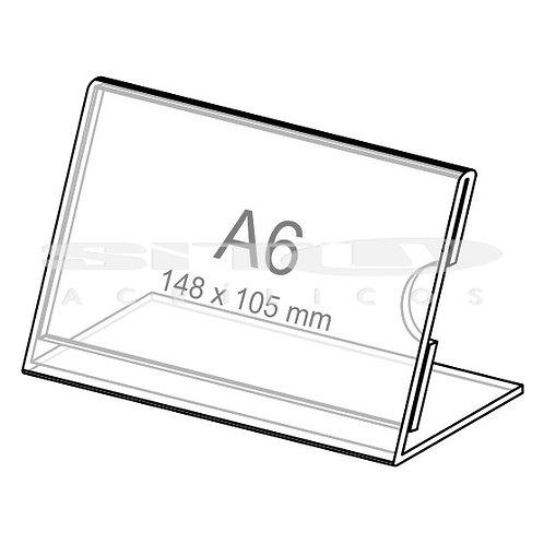 Display L - Horizontal - Tam.: A6 (105 x 148 mm) - Com fundo